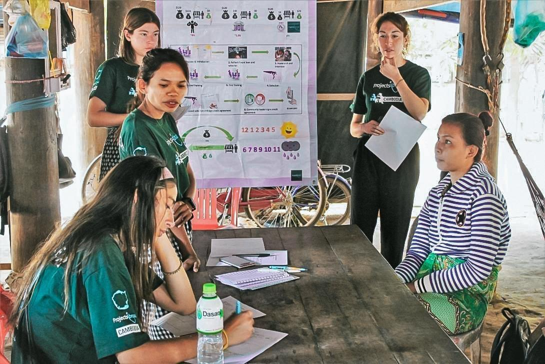 Microfinance volunteer from Australia takes note on beneficiary revenues